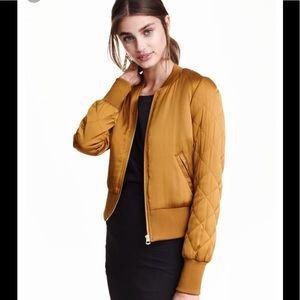 Gold/Mustard Bomber Jacket